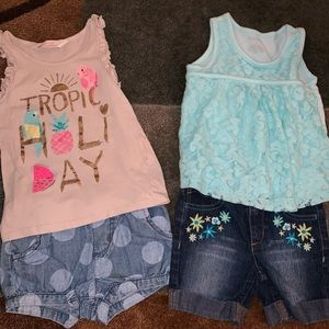 Bundle of 2 matching sets for girl size 3t